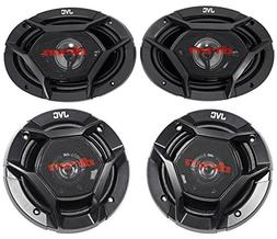 "JVC CS-DR6940 6x9"" 1100 Watt 4-Way Car Speakers+6.5"" 300 Wa"