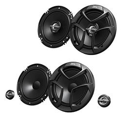 "JVC CS-J620 300W 6.5"" CS 2-Way Coaxial Car Speakers  with JV"
