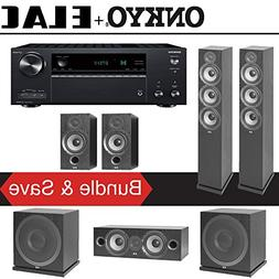 Elac F6.2 Debut 2.0 5.2-Ch Home Theater Speaker System with