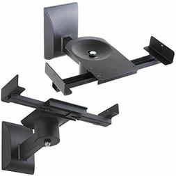 Halter Dual Pair Adjustable Wall Mounting Surround Sound Spe