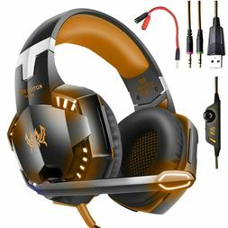 EACH G2000 Stereo Bass Surround Gaming Headset for PS4 PS5 X