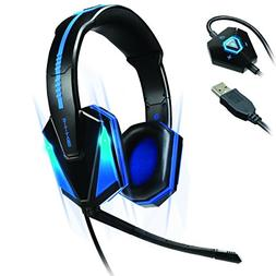Accessory Power Enhance Blue LED PC Gaming Headset GX-H1 wit