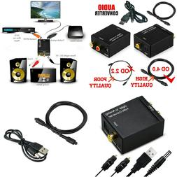 Optical Coax Digital to Analog RCA L/R Audio Converter Adapt
