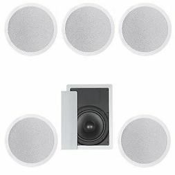 FIVE IN-CEILING 8-INCH SPEAKER 5.1 HOME THEATER SURROUND SOU