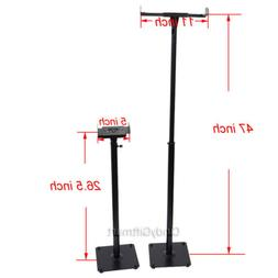 2 Floor Speaker Stand Mount Side Clamp Heavy Duty Surround S