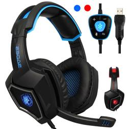Gaming Headphones Computer USB 7.1 Surround Sound Headset Wi
