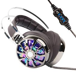 PC Gaming Headphones - KINDEN USB 3.0 Over-ear Gaming Headse