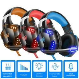 gaming headset 3d stereo led headphones 3