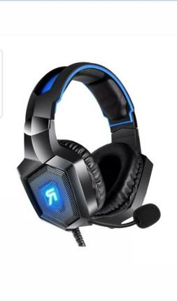 RUNMUS Gaming Headset PS4 Headset with 7.1 Surround Sound