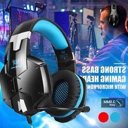 gaming headset strong bass over ear gaming