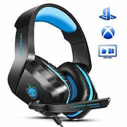 Ceppekyy Gaming Headset for Xbox One,PS4,PC,Noise Cancelling