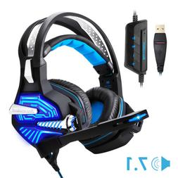 GM-9 Gaming Headset Headphones Pro 7.1 USB Surround Sound Wi