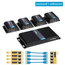gofanco 1080p 1x4 4 Port HDMI Extender Splitter HDMI Signal