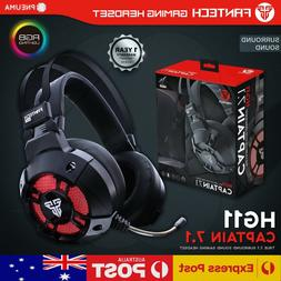 FANTECH HG11 7.1 Surround Gaming Headset Mic RGB LED Headpho