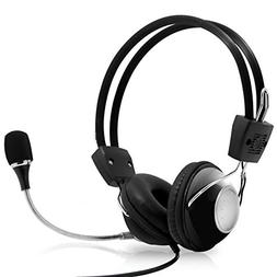 Multimedia Gaming USB Mic Headset - Over Ear Professional Wi