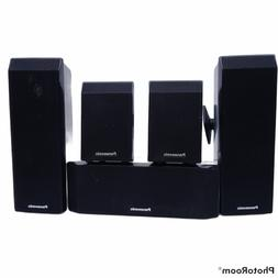 Panasonic Home Theater Speaker System 5 piece Set 4 Wall Mou