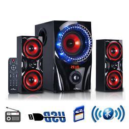 beFree Sound BFS-99X 2.1 Channel Bluetooth Surround Sound Sp