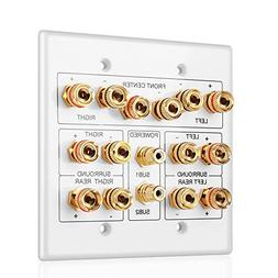 TNP Home Theater Speaker Wall Plate Outlet - 7.2 7.1 Surroun