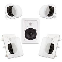 Acoustic Audio HT-55 In Wall In Ceiling 1000 Watt Home Theat