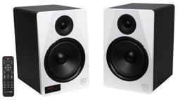 """Rockville HTS8W Pair 8"""" 1000W Powered Home Theater Speakers"""