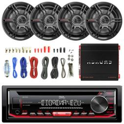 "JVC CD AMFM USB Stereo, 1000W Amplifier, 6.5"" Crunch 3Way Fu"