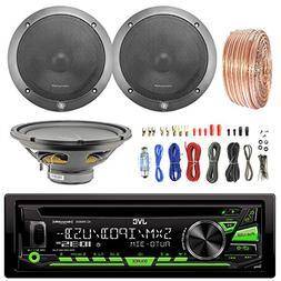 JVC KDR680S Car CD Player Receiver USB AUX Radio - Bundle Co