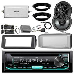 "JVC KDR690S CD Receiver Bundle/2 Kicker 6.5"" Speaker + Motor"
