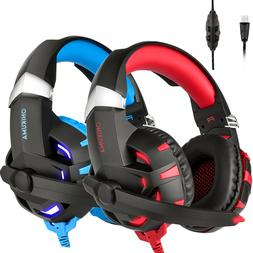 ONIKUMA K2 Gaming Headsets Stereo 7.1 Surround Sound USB w/M