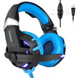 ONIKUMA K2 Stereo 7.1 Surround Sound Gaming Headsets w/Mic f