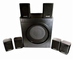 "Panasonic Kelton 8"" Subwoofer w/6 Small Speakers Surround So"