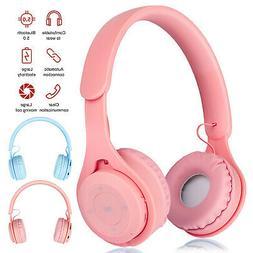 kid girl bluetooth 5 0 headphone over