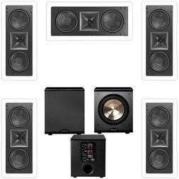 Klipsch KL-6502-THX 5.1 In-wall LCR Speaker System-Free PL-2