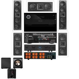 Klipsch KL-6504-THX 5.1 Wall System-Harman AVR 3700-Furman E