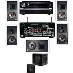 Klipsch KL-7800-THX 5.1 In-Wall-SW-310-Onkyo TX-NR838 7.2 Ch