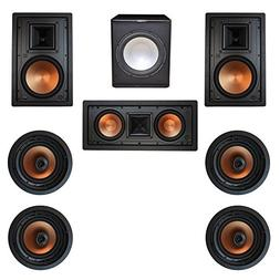 Klipsch 7.1 In-Wall System with with 2 R-5800-W II In-Wall S
