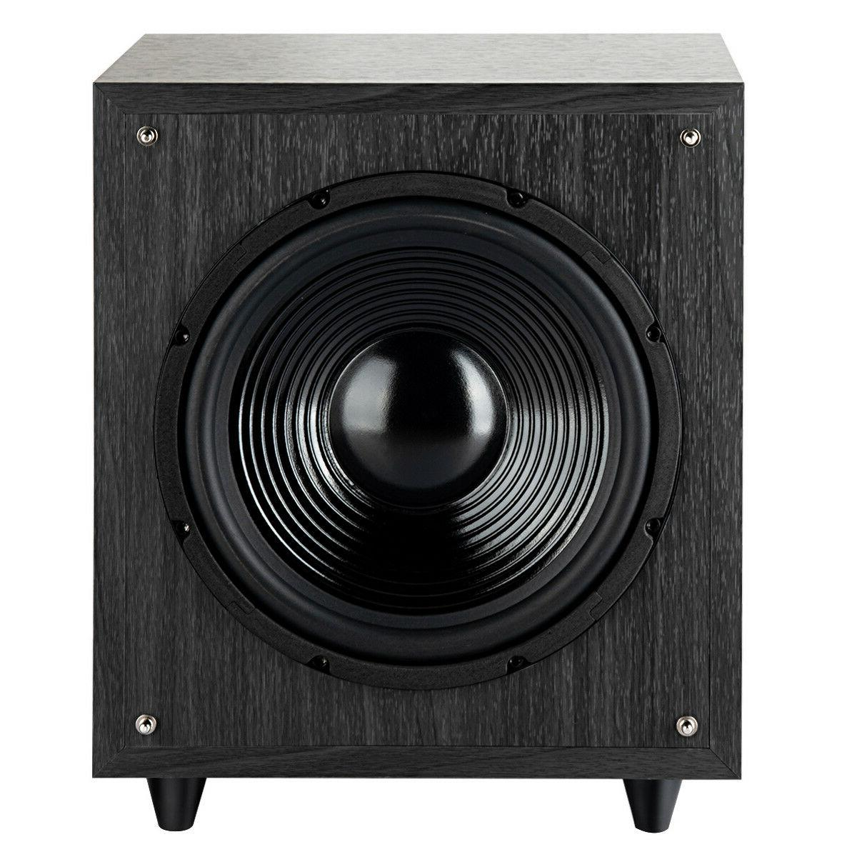 """10"""" 400W Powered Subwoofer Front-Firing Sound"""