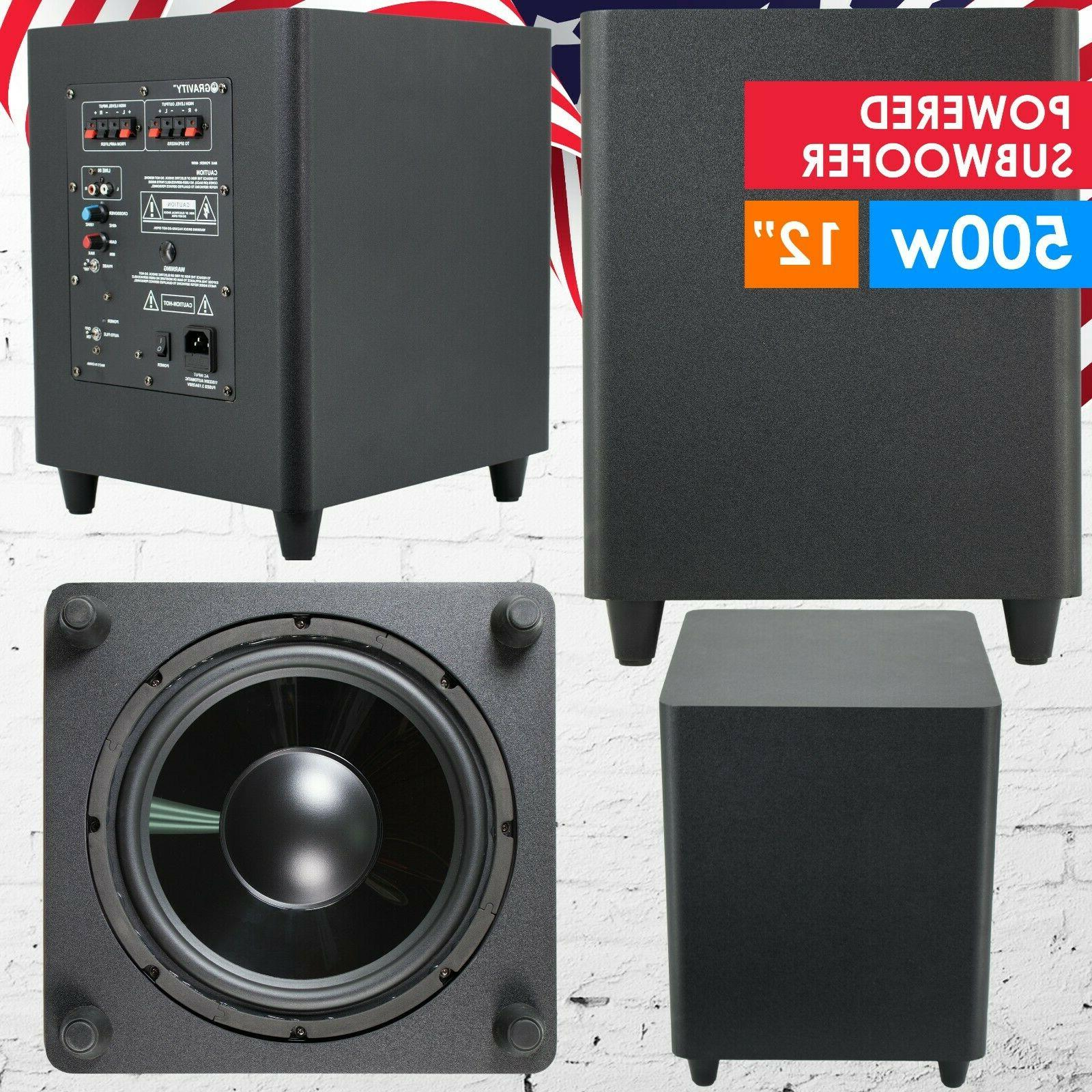 12 down fire active powered subwoofer home