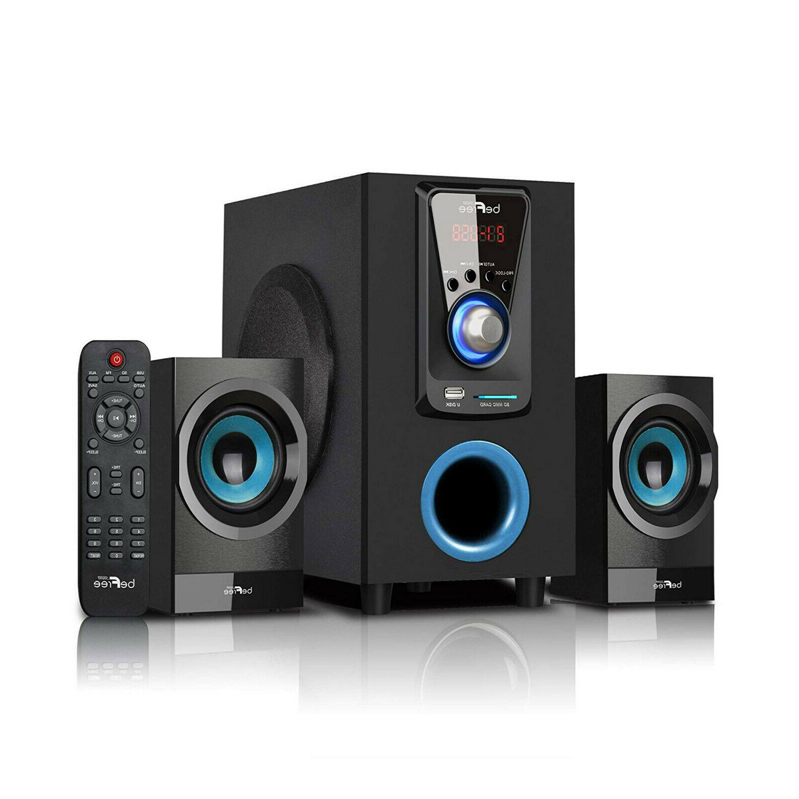 BEFREE SOUND 2.1 CHANNEL BLUE SURROUND SOUND BLUETOOTH SPEAK