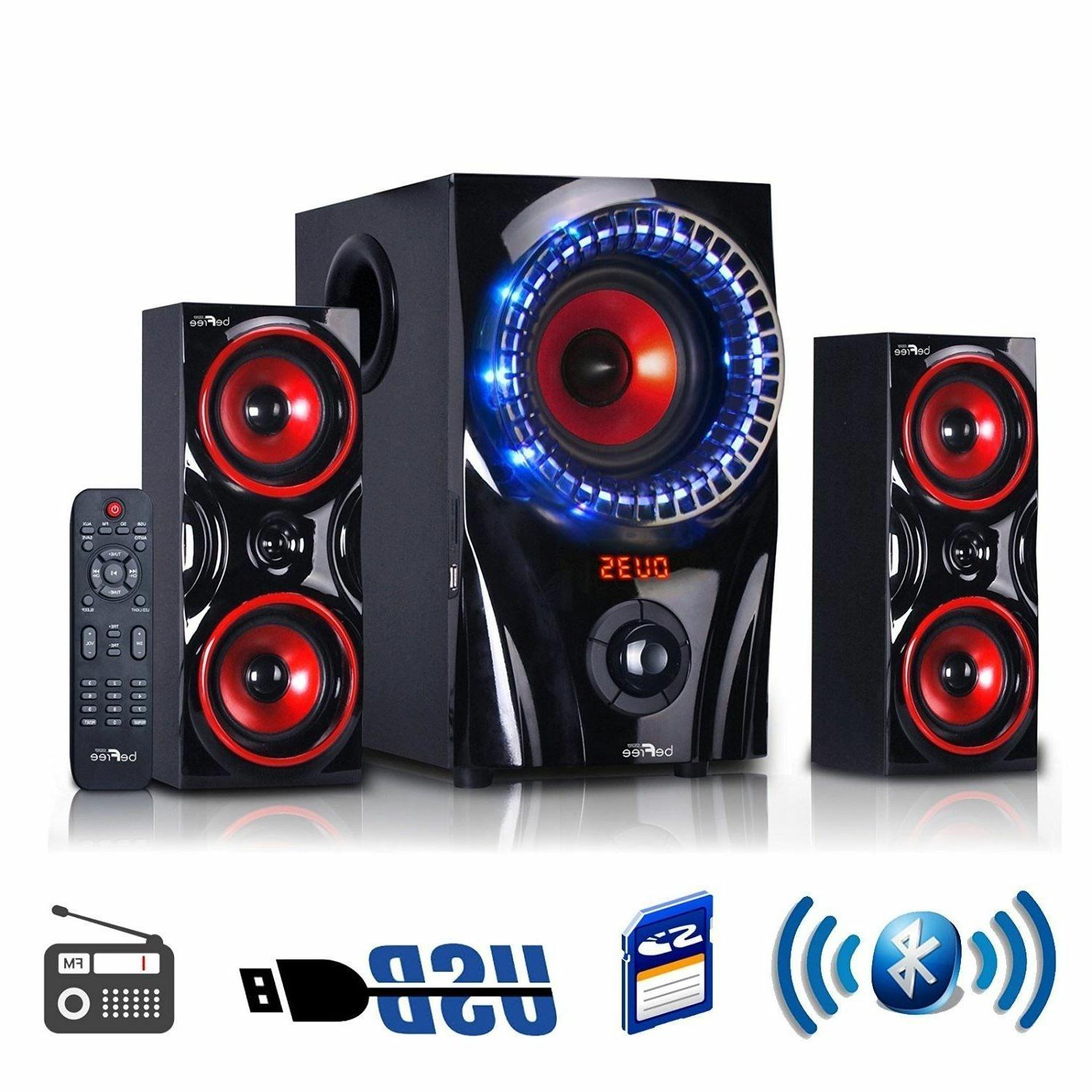 beFree Sound 2.1 Channel Surround Sound Bluetooth USB/SD Spe