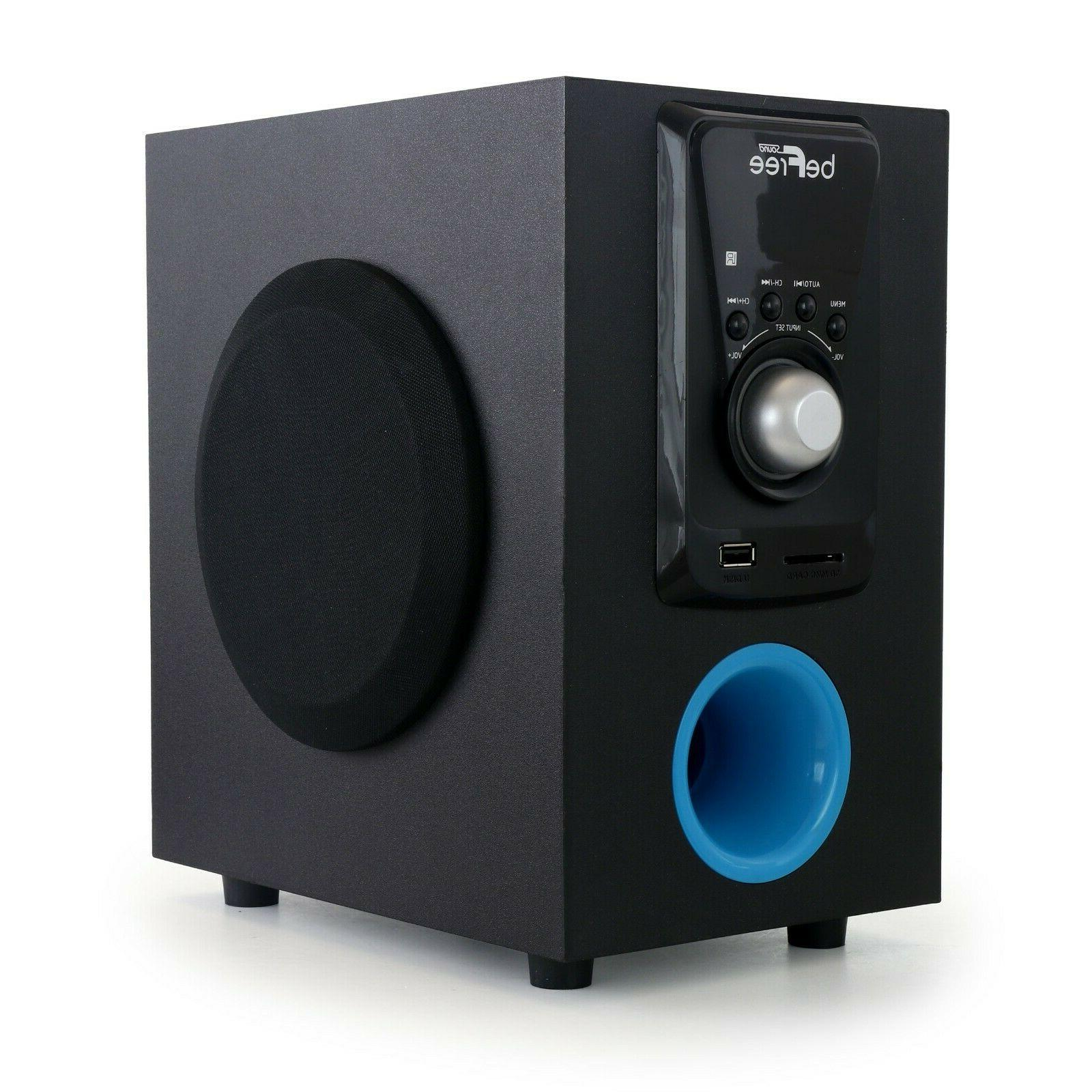 beFree 2.1 Surround Sound Speaker System w Bluetooth USB Remote
