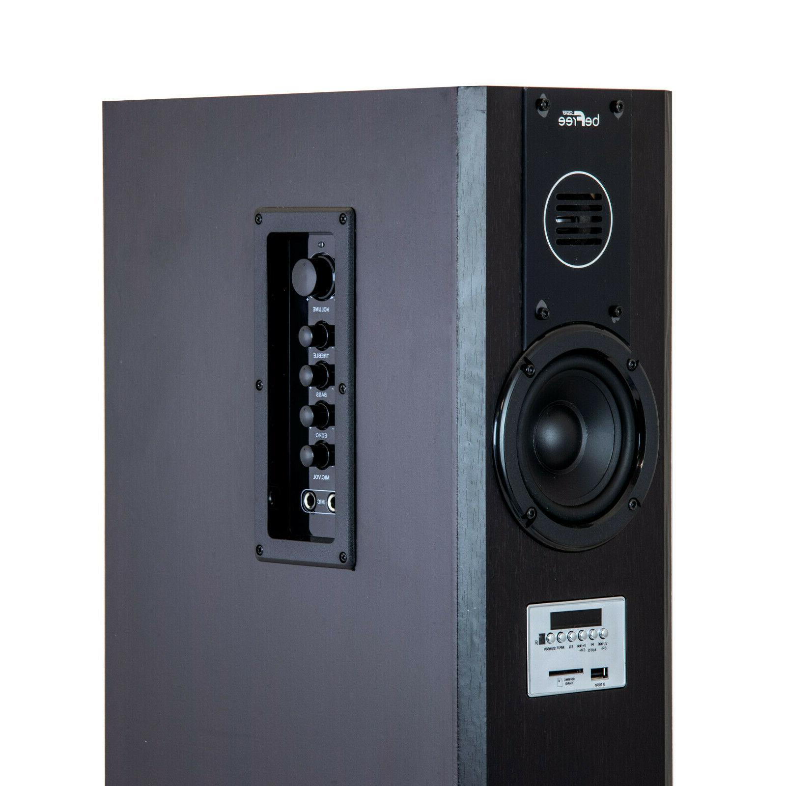 2.1CH POWERED TOWER SPEAKERS MP3 PLAYER