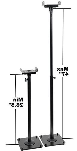 """VideoSecu 2 PA Height Stand Mount - to 47"""" 1B7"""