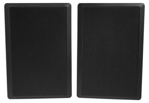 2) RockSlim Front+Rear Sound Home Theatre Wall Speakers