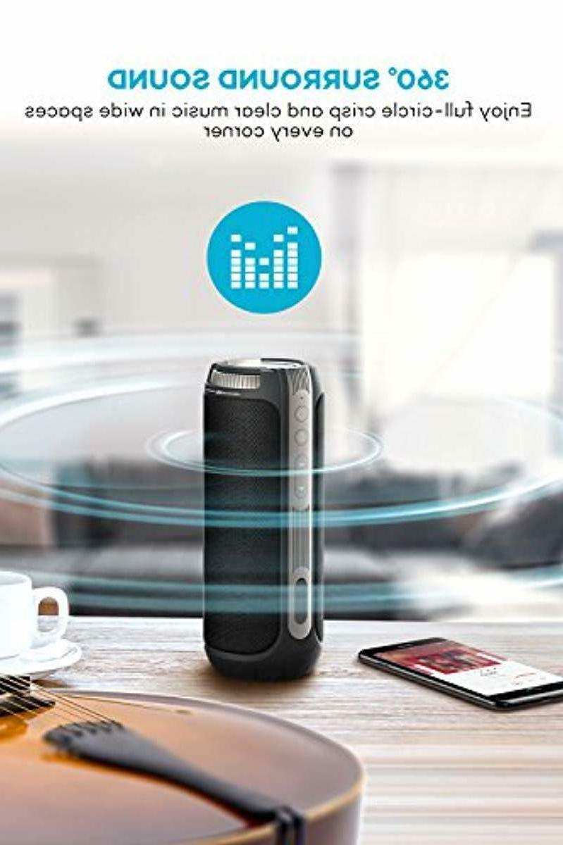 20W 15 Hours Loud Speakers, TaoTronics 360 Degree Surround Sound