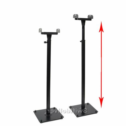 2 x Speaker Stands Floor Mount Side Clamp Satellite Surround