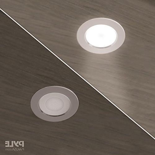 """3.5"""" Mount Speakers - 2-Way Flush Design Light Aluminum Frame 60Hz 20kHz Response Peak - PDIC4CBTL35B"""