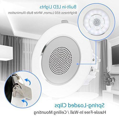 "3.5"" Ceiling Mount Speakers - Range Sound Flush Design Light 60Hz Response & 280 Peak - Pyle"