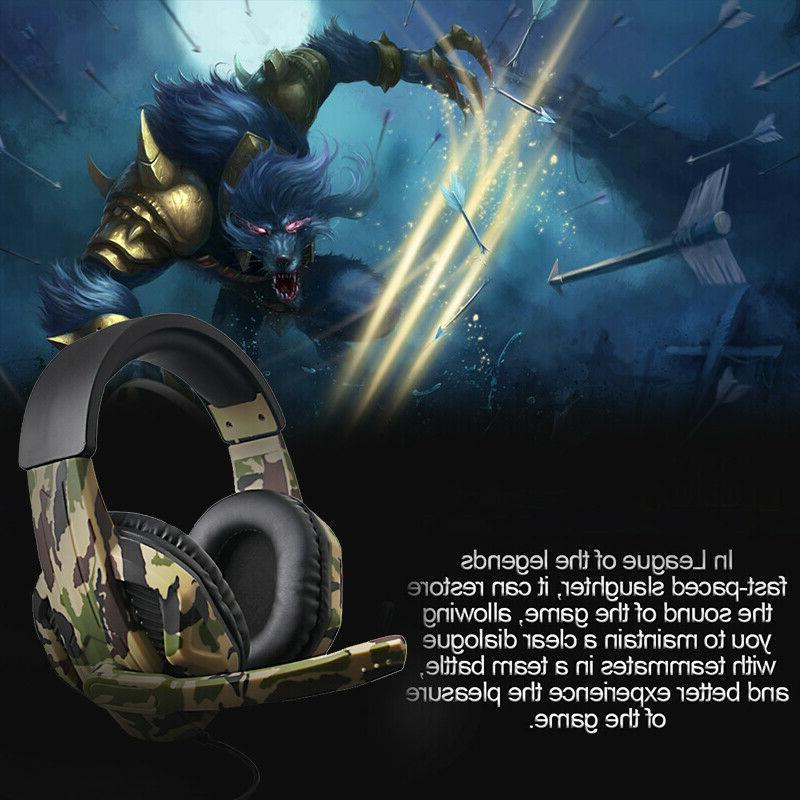3.5mm Headsets Stereo Surrounds Headphone For Xbox PC Mic