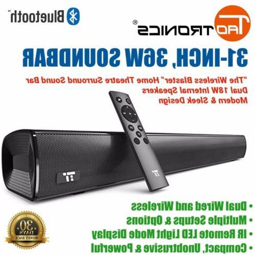 31 surround sound bar blaster wireless bluetooth