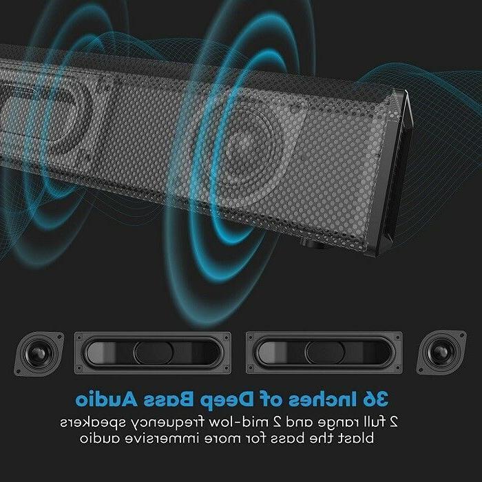 "36"" SoundBar Bass Wired & Wireless Bluetooth Sound"